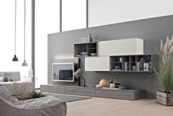 Meubles Mailleux  le catalogue Composition, Tv walls and Living rooms - Meuble Tv Avec Rangement