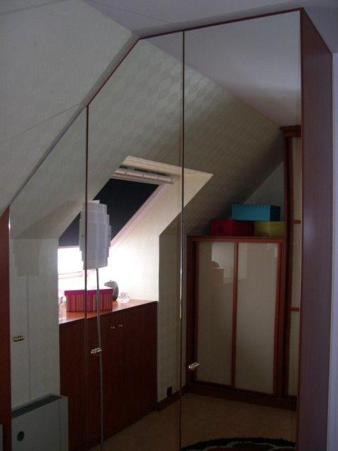 EDS portes ouvrantes miroir argent sous pente ©EDSYSTEM #souspente