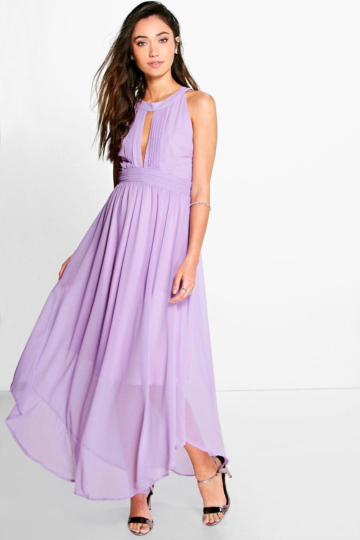Marcie Pleat Detail Keyhole Chiffon Maxi Dress | Chiffon maxi, Maxi ...