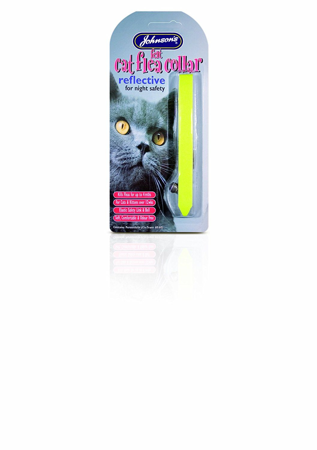 Johnsons Felt Cat Flea Collar Reflective >>> You can get additional details at the image link. (This is an Amazon affiliate link)