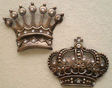 New Gold Crown Wall Decor Art Royalty King Queen Prince Princess