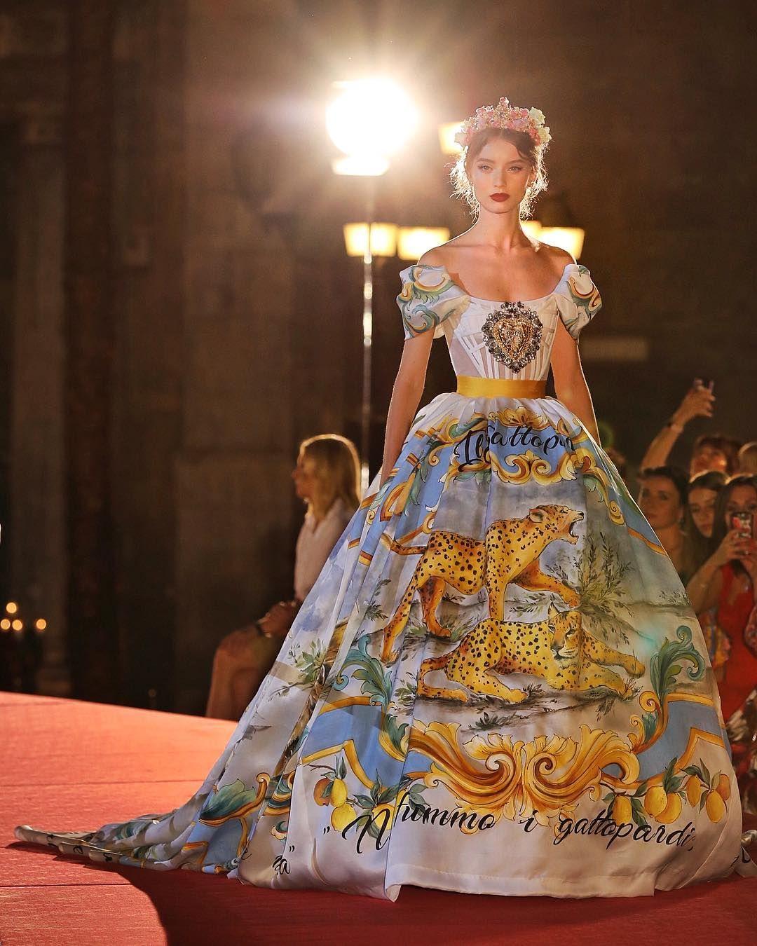 huge selection of 3d8d3 caaf8 Step Inside Dolce & Gabbana's Breathtaking Alta Moda Show ...