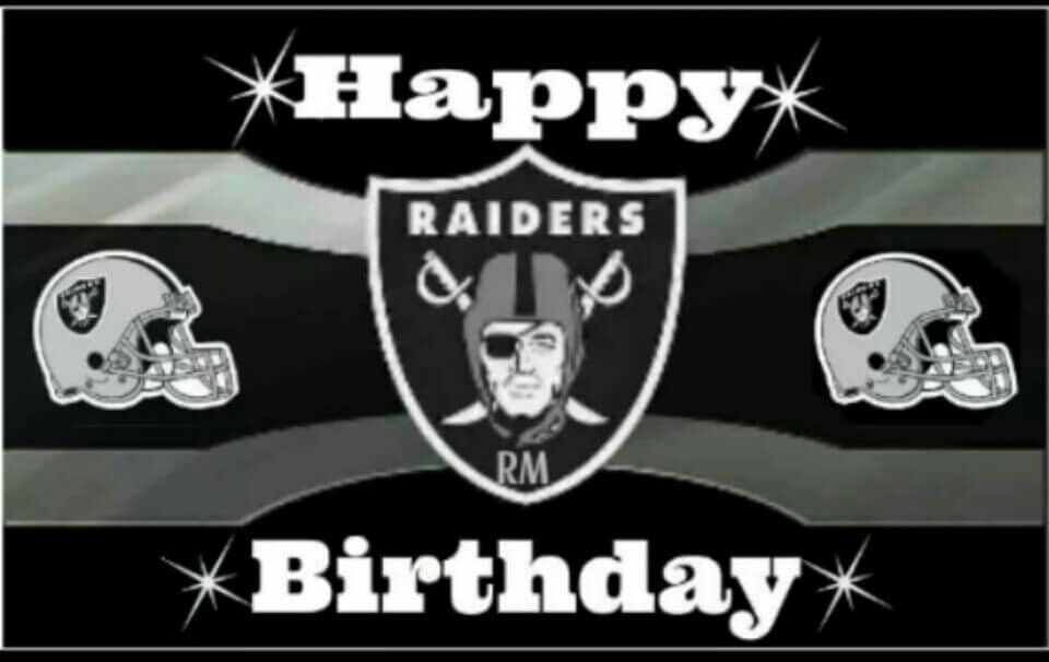 Raider Birthday With Images Oakland Raiders Football Oakland