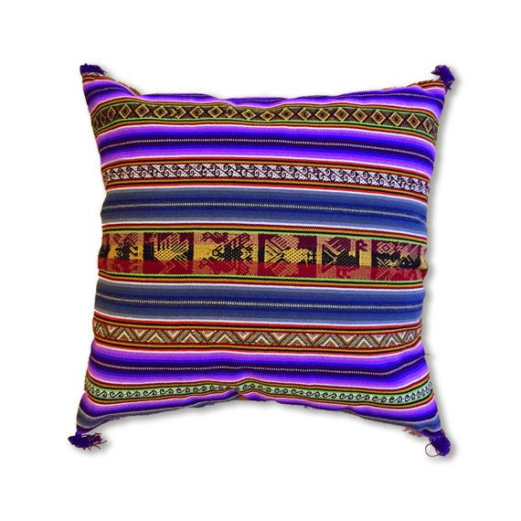 Peruvian Style Hancrafted Pillow Cover 4040cm 4040inches New Peruvian Decorative Pillows