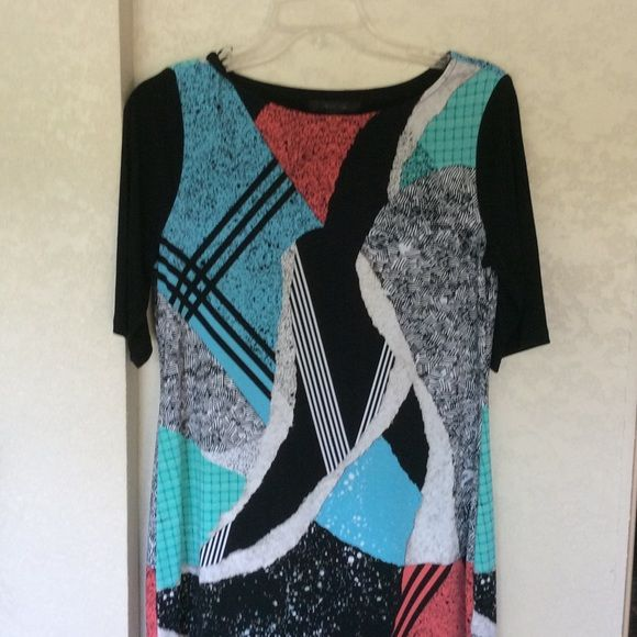 """Style & Co. Tunic Beautiful multi color tunic. Bought to wear for a wedding shower and never wore it. It is 31"""" from the shoulder so if you are younger than me, you could wear it as a dress, otherwise it looks great with leggings. Style & Co Tops Tunics"""