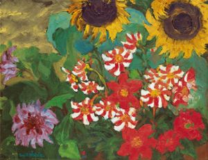 Emil Nolde, Dahlias and Sunflowers, 1928. Nolde Foundation Seebuell