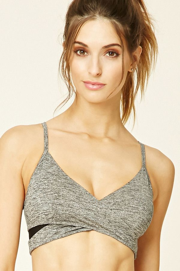 124f1008f110d Forever 21 Wrap Front Sports Bra on ShopStyle