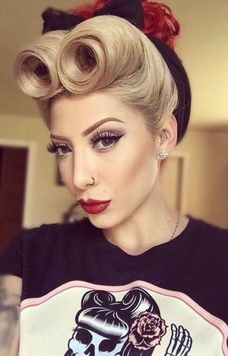 Beautiful Rockabilly Hair And Makeup Rockabilly Hairstyles