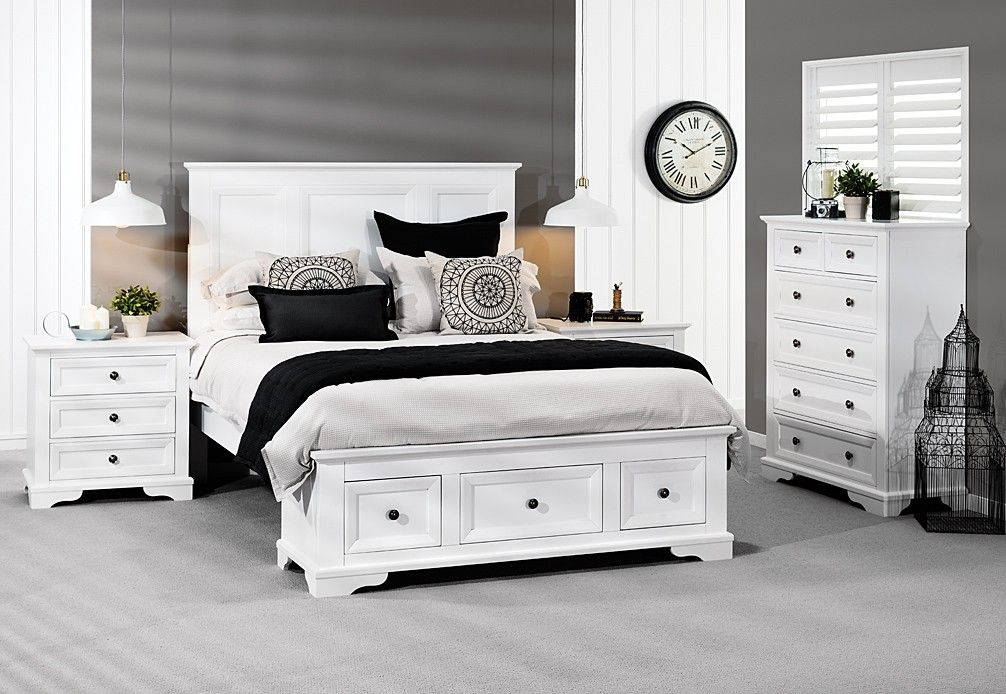 Everest 4 Piece Tall Chest Queen Bedroom Suite | Super Amart | Coastal  Style | Pinterest | Queen Bedroom, Bedrooms And Coastal Style