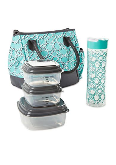 579a21022b8d Fit & Fresh McAllen Insulated Lunch Bag Kit with Portion Control ...