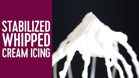 Stabilized Whipped Cream Icing #stabilizedwhippedcream How to Make Stabilized Whipped Cream Icing #stabilizedwhippedcream