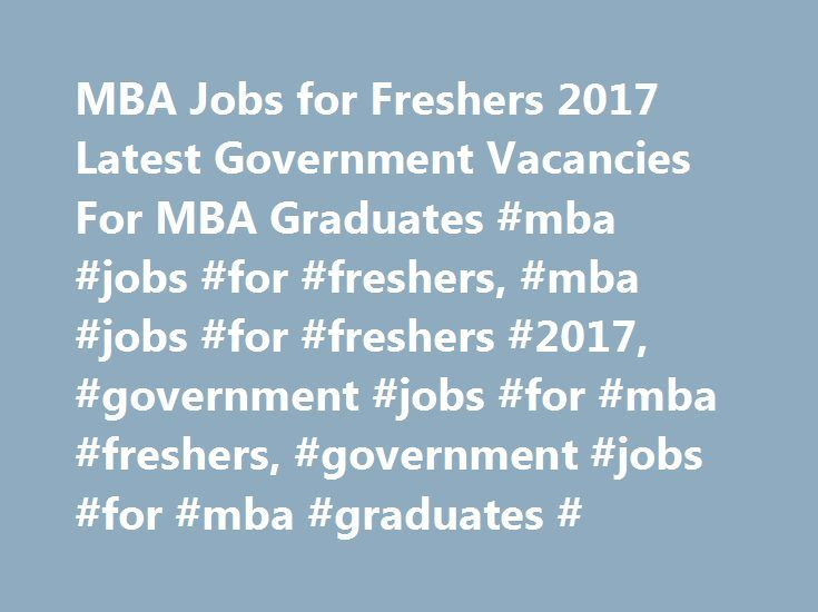 jobs for mba grads