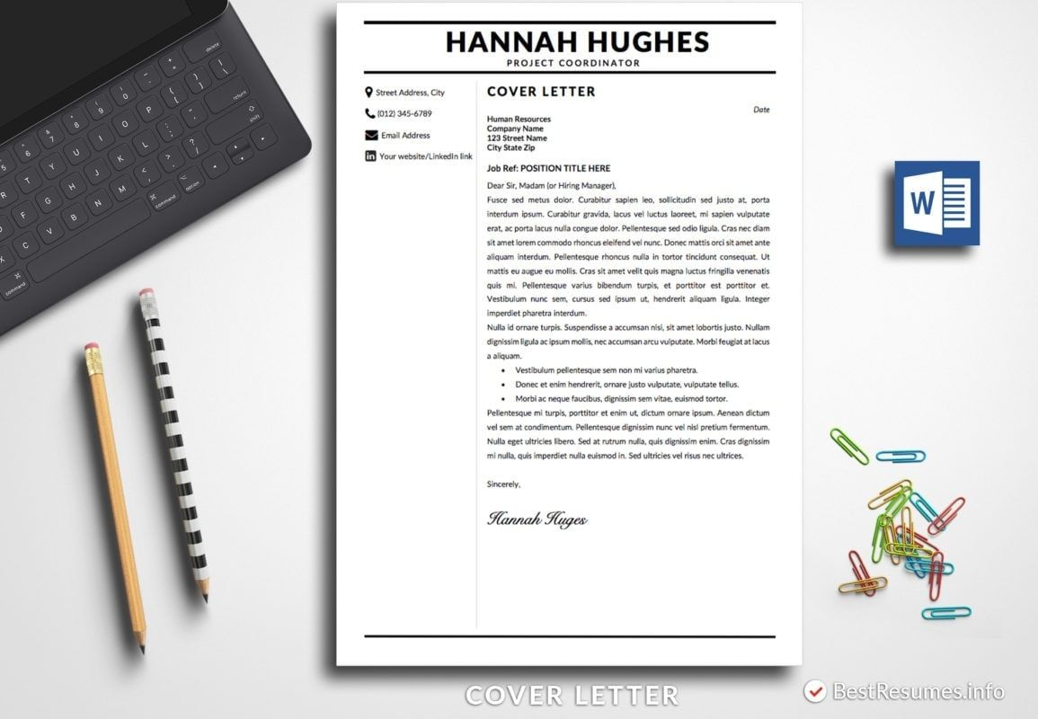 Modern Resume Template Hannah Hughes in 2020 Modern