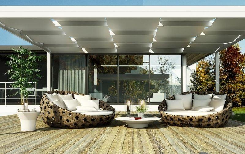 Elektronisch faltbare Markise für die Terrasse Garten - sonnenschutz markisen terrasse