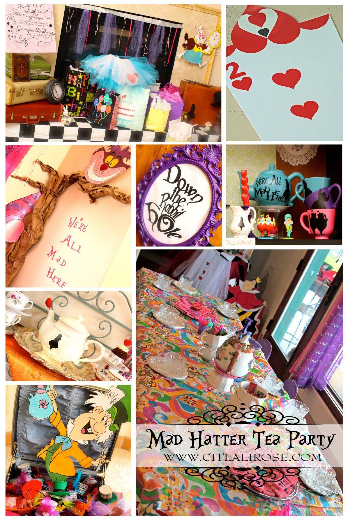 Citlali Rose | Alice in Wonderland Mad Hatter Tea Party | Decoration ...