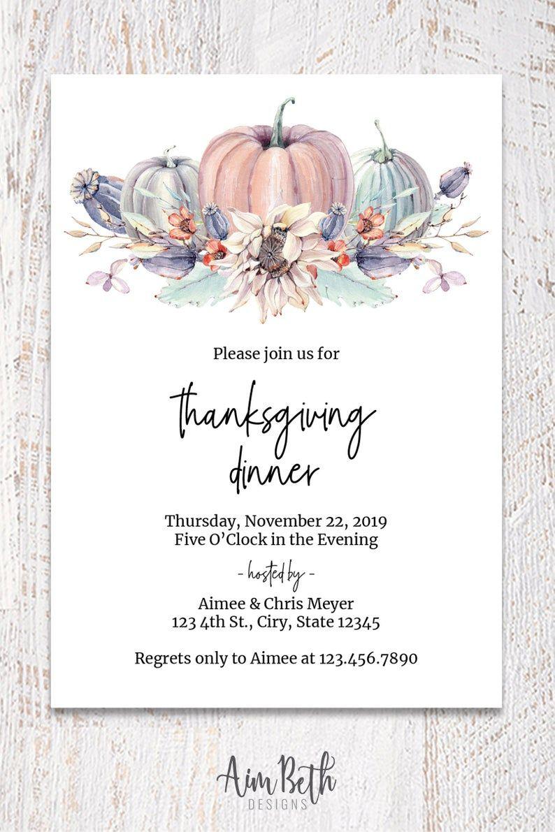 Thanksgiving Dinner Invitation Friendsgiving Invitation Etsy In 2020 Thanksgiving Invitation Template Dinner Invitation Template Thanksgiving Dinner Invitation