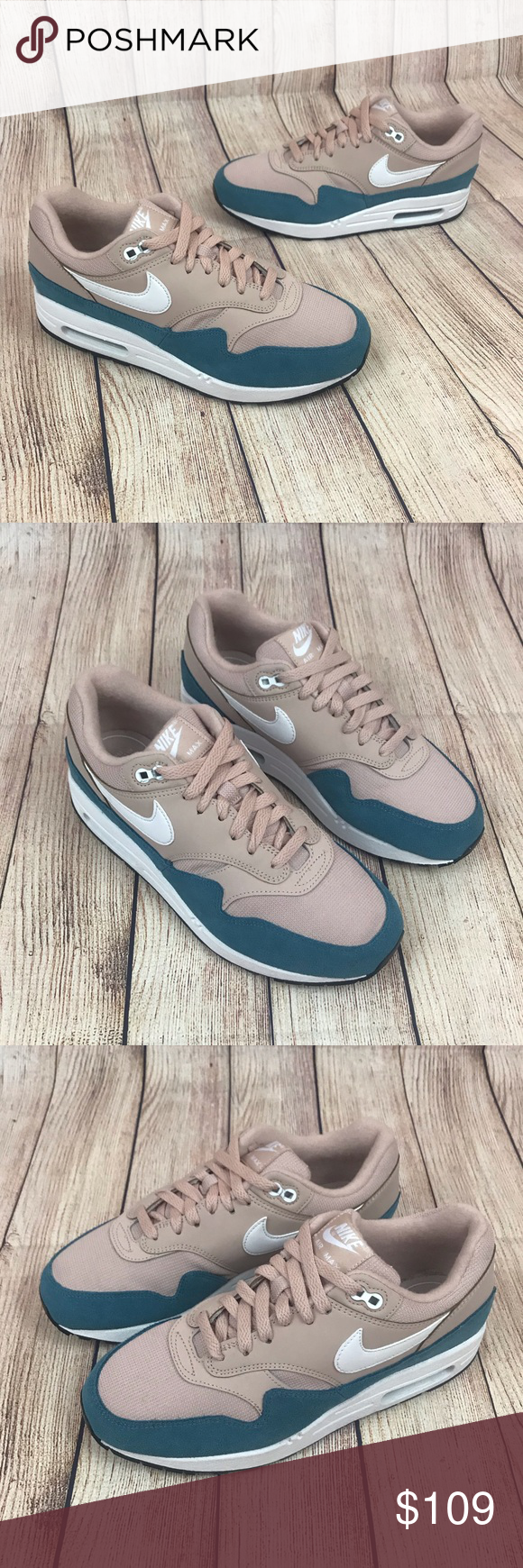 NEW Nike Air Max 1 Celestial Teal Blush Pink White NEW