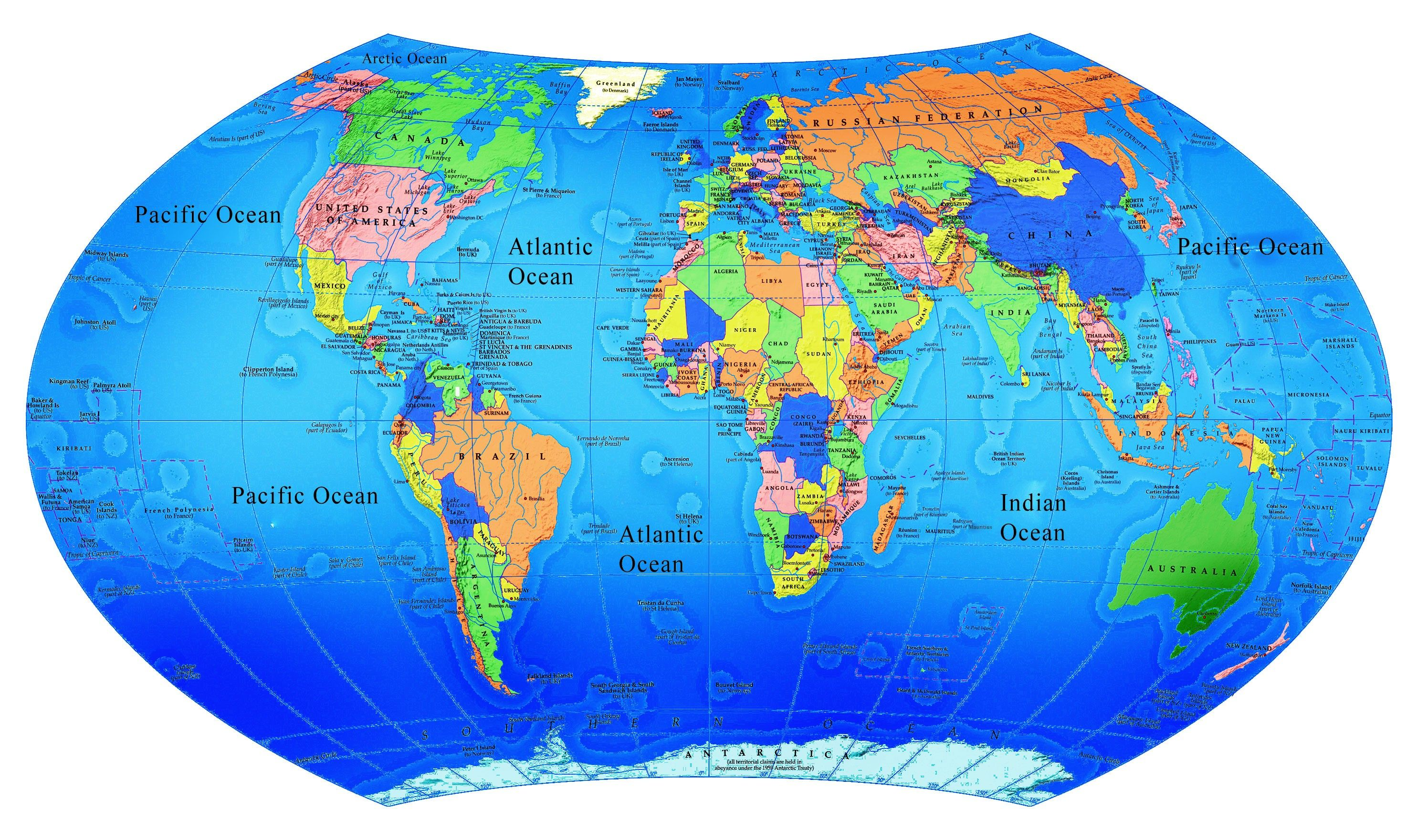 Download Map World Globe Major Tourist Attractions Maps