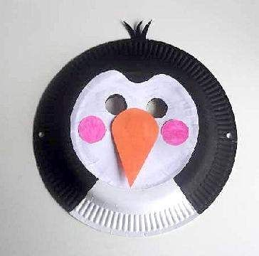 paper plate penguin mask & paper plate penguin mask | PAPER PLATE CRAFTS | Pinterest | Penguins ...