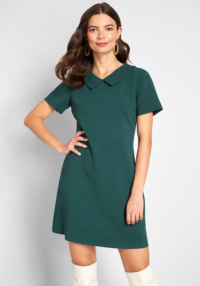 Right Back At Ya Shift Dress In Xl Shift Dress Work Dresses For Women Green Shift Dress [ 1097 x 768 Pixel ]
