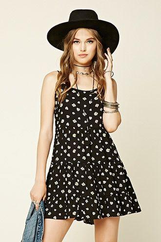 Daisy Print Tiered Dress