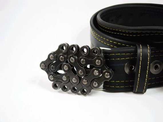 Mini Recycled Bike Chain Belt Buckle Clear Finish Products