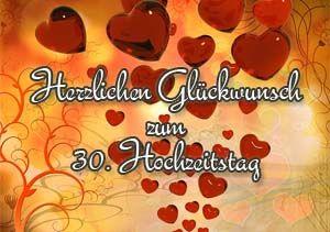 30. Hochzeitstag Glückwünsche und Sprüche