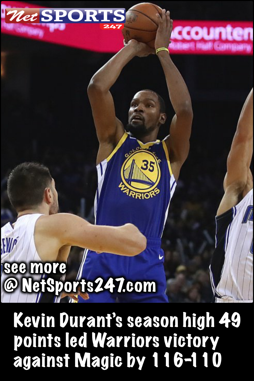 f487857b2ba Kevin Durant s season high 49 points led Warriors victory against Magic by  116-110 - Net sports 247  KevinDurant  season  Warriors  Magic  NBA   NetSports247