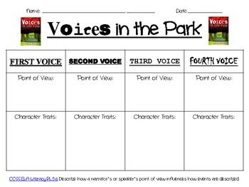 5th Grade point of view worksheets 5th grade : Voices in the Park