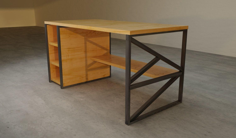 Pin de pierre en meuble acier bois madera y acero for Muebles de diseno industrial