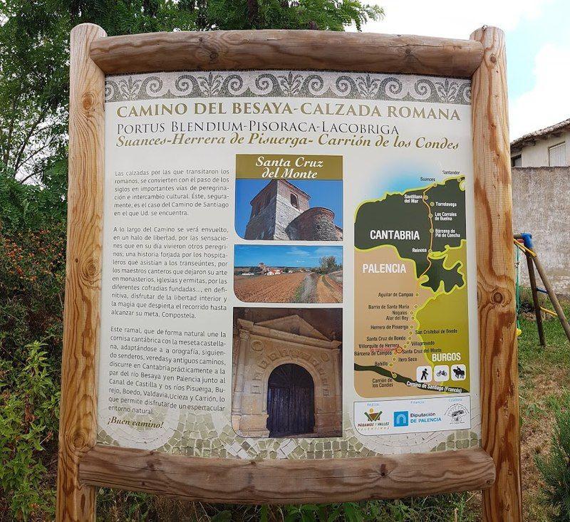 Santa Cruz Del Monte Camino Del Besaya Camino De Santiago Del Norte Ruta Del Besaya Wikipedia La Enciclope Camino De Santiago Rutas Iglesia De Santiago