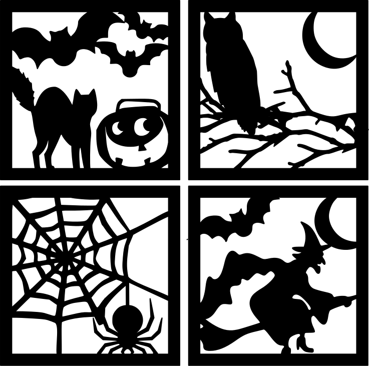 Easy, Inexpensive DIY Halloween Decor | Svg file, Silhouettes and