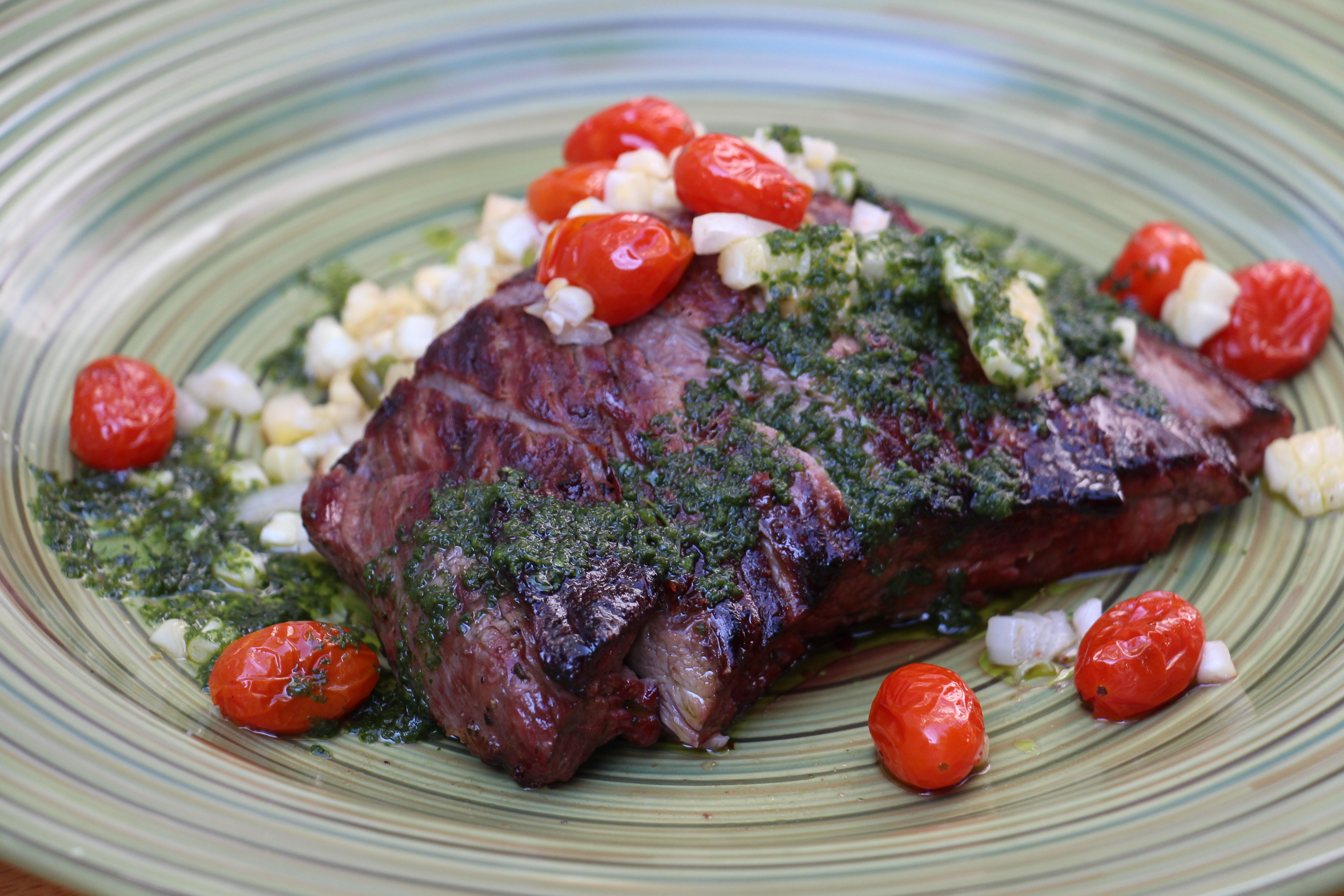 BBQ Skirt Steak with Warm Potato Salad advise