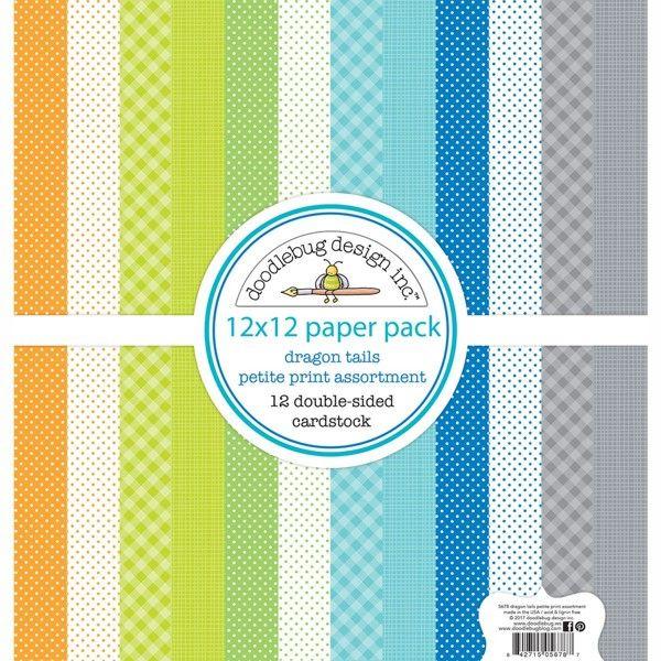 Doodlebug ~ DRAGON TAILS ~ 12x12 Paper Pack