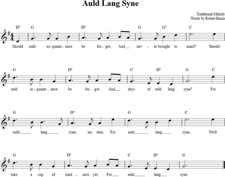 Auld Lang Syne Recorder Sheet Music Recorder Sheet Music Sheet Music Auld Lang Syne