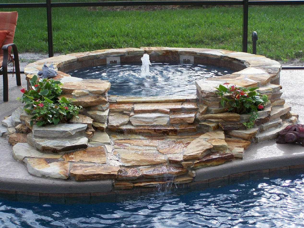Stacked stone water feature - Small Stacked Stone Fountain