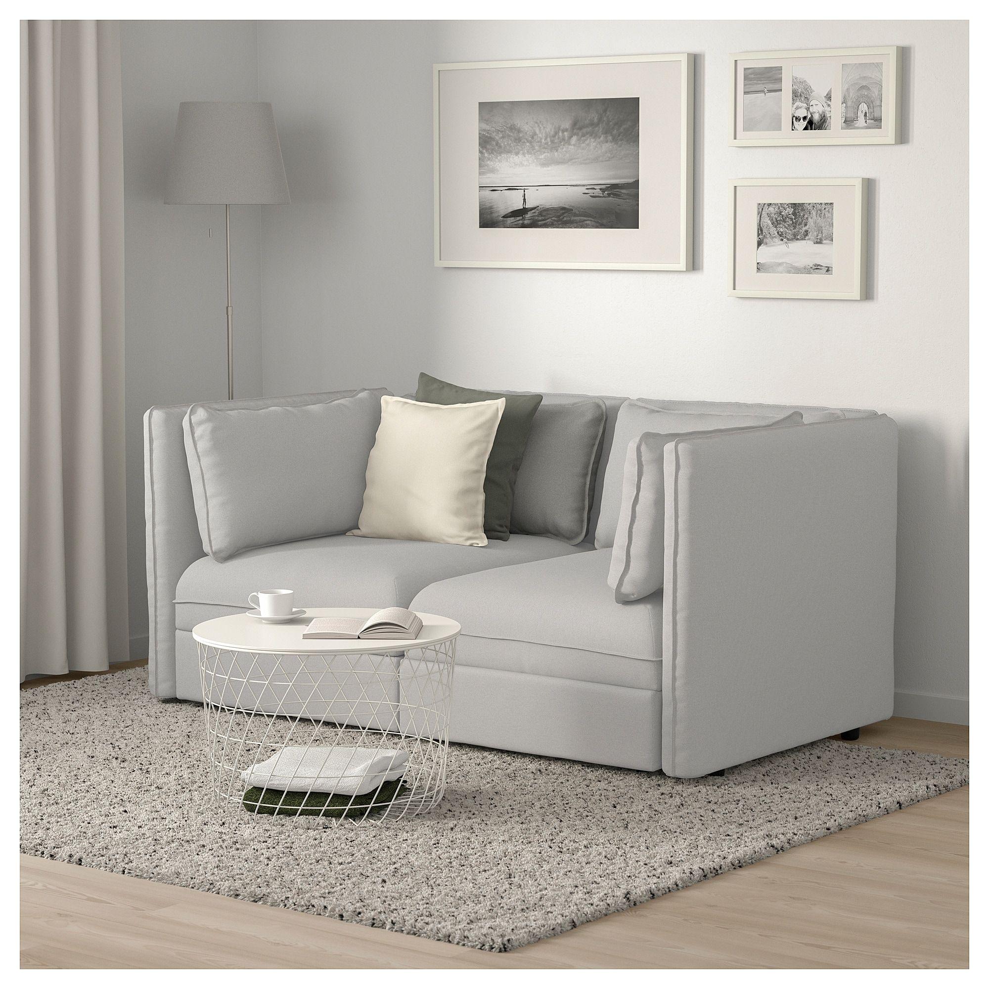 IKEA - VALLENTUNA Modular loveseat Orrsta light gray ...