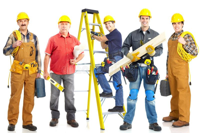 Industrial Workers Group Group Of Industrial Workers With Yellow Helmet Isolate Spon Grou Pay Off Mortgage Early Mortgage Protection Insurance Home Loans