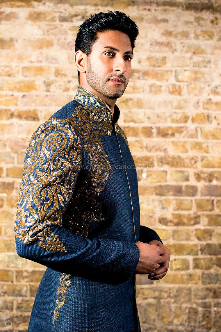 Mens Sherwani Suits Wedding Dresses for Men, Asian Groom Suits ...