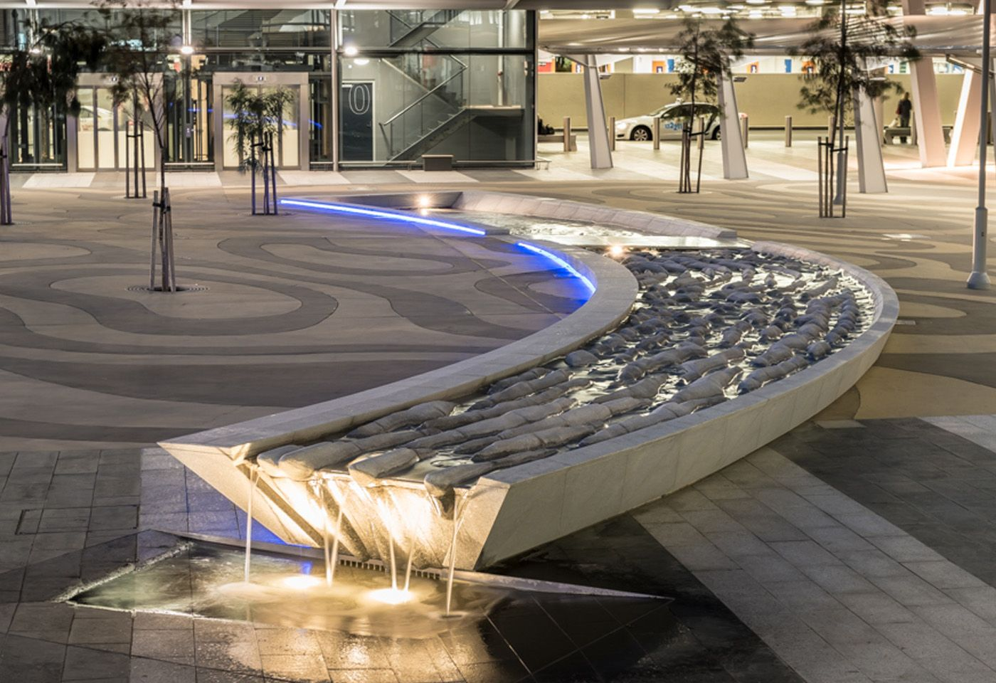 Water fountains adelaide - Small Urban Plaza Water Feature Google Search