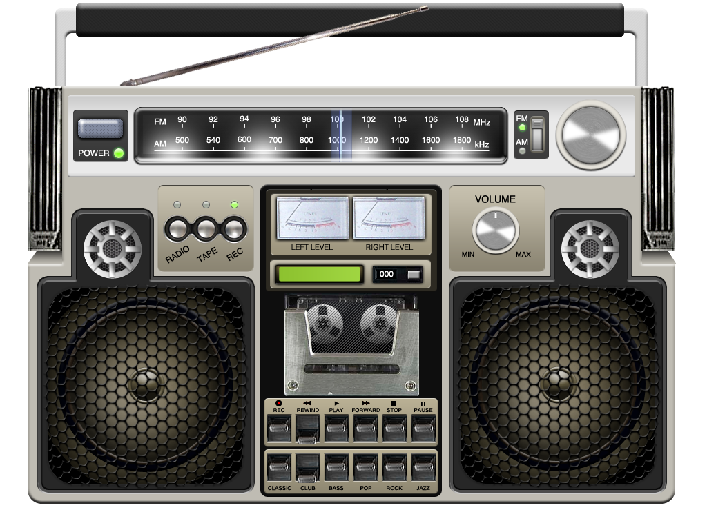 It S A Retro Boombox Music Player For Ipad Love D D D Music Player App Boombox Music Players