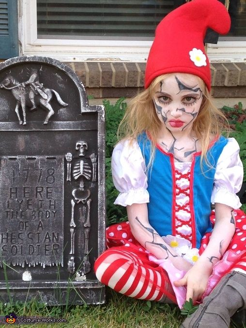 Shattered Garden Gnome - Halloween Costume Contest at Costume-Works - scary homemade halloween costume ideas