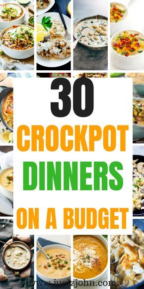 30 Quick Easy Crock Pot Meals You Can't Resist - juelzjohn #healthycrockpots
