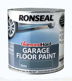 Ronseal Diamond Hard Garage Floor Paint Satin Slate 2 5l