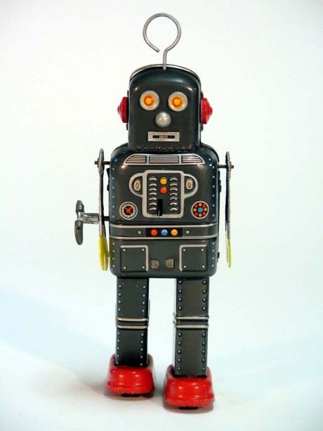 vintage tin robots ブリキ 玩具 人形