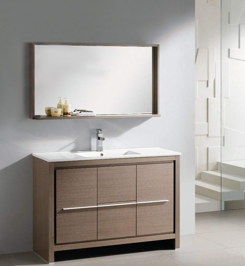 34++ Bathroom cabinet with mirror brown 48 model