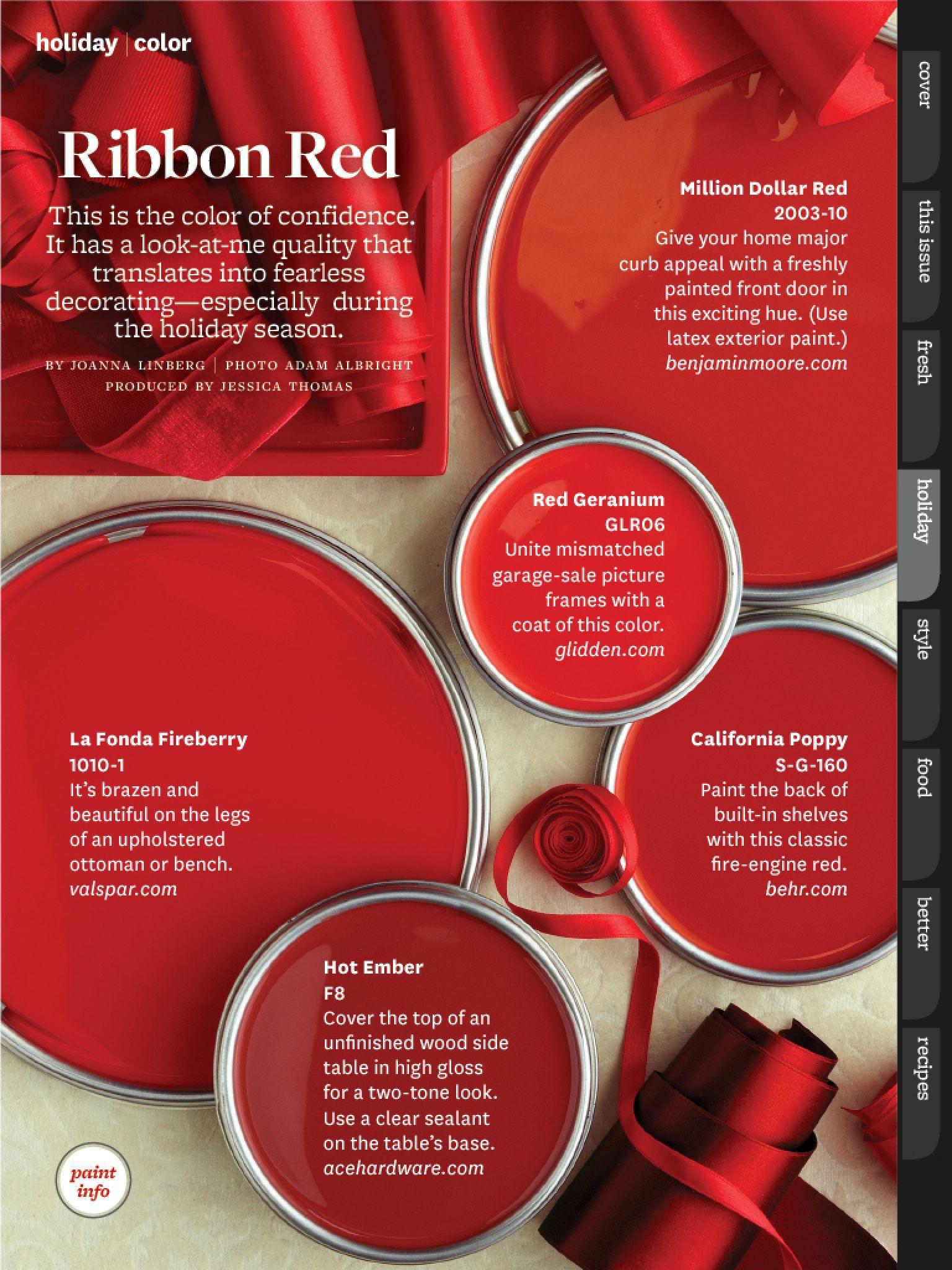 Paint Combinations Color Combos Schemes Palettes Red Colors