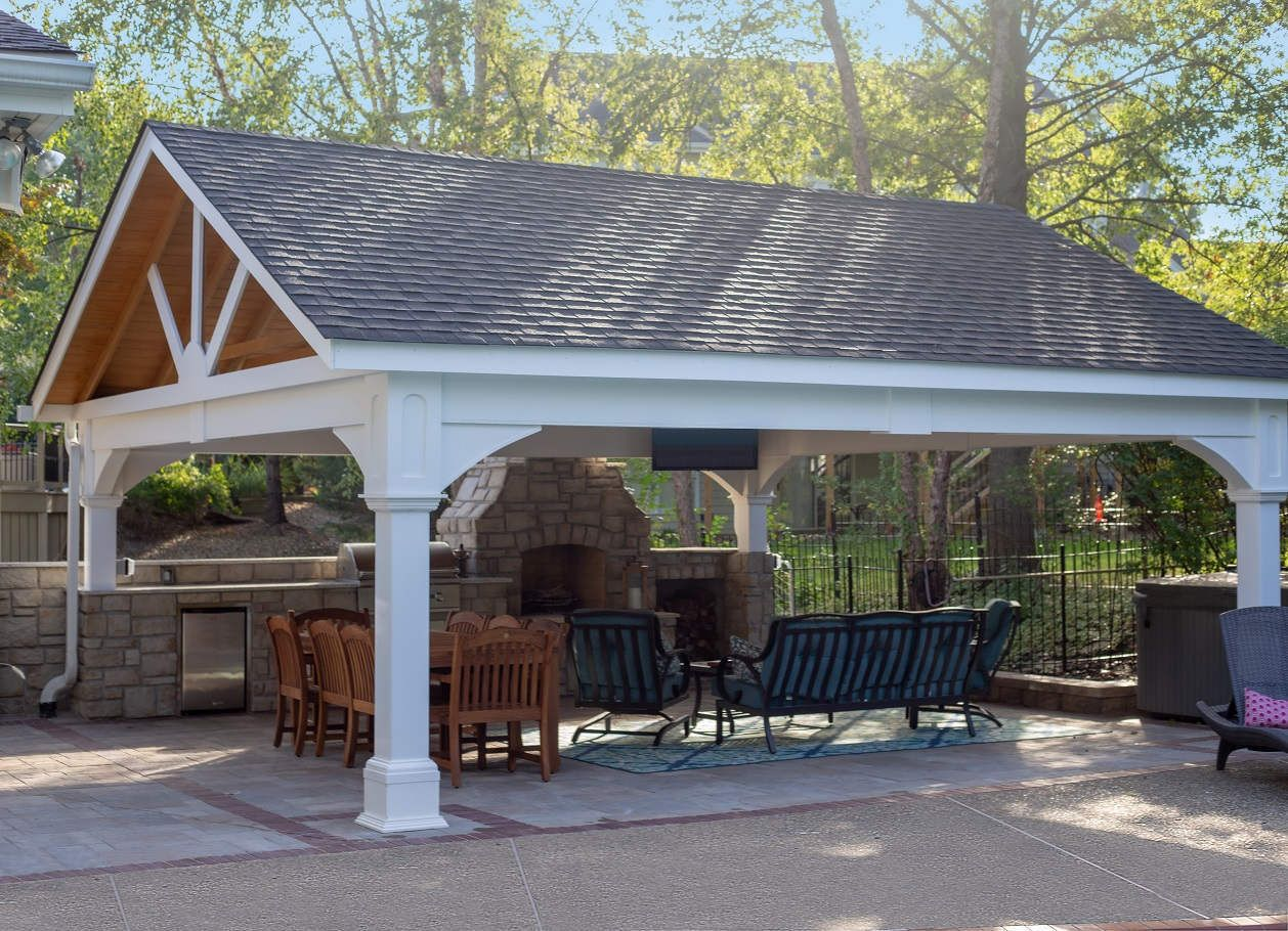 Premium Vinyl Pavilion Gabled Roof Outdoor Pergola Gazebo Pergola Plans