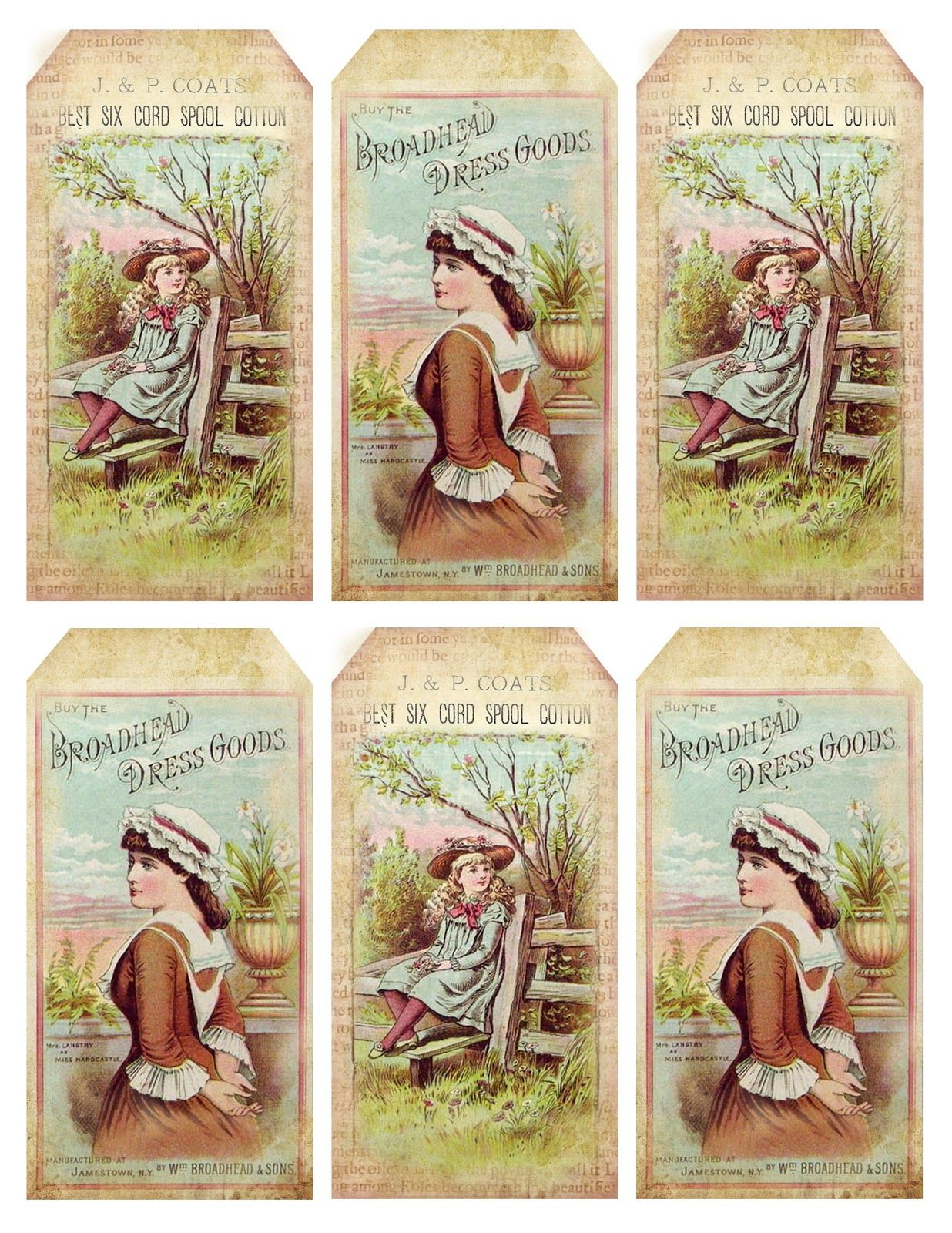 Lilac & Lavender: 1880's Pretty Advertisement Tags