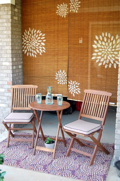 Taking The Current Bamboo Blinds From The Patio And Try To Do Something  Like This,